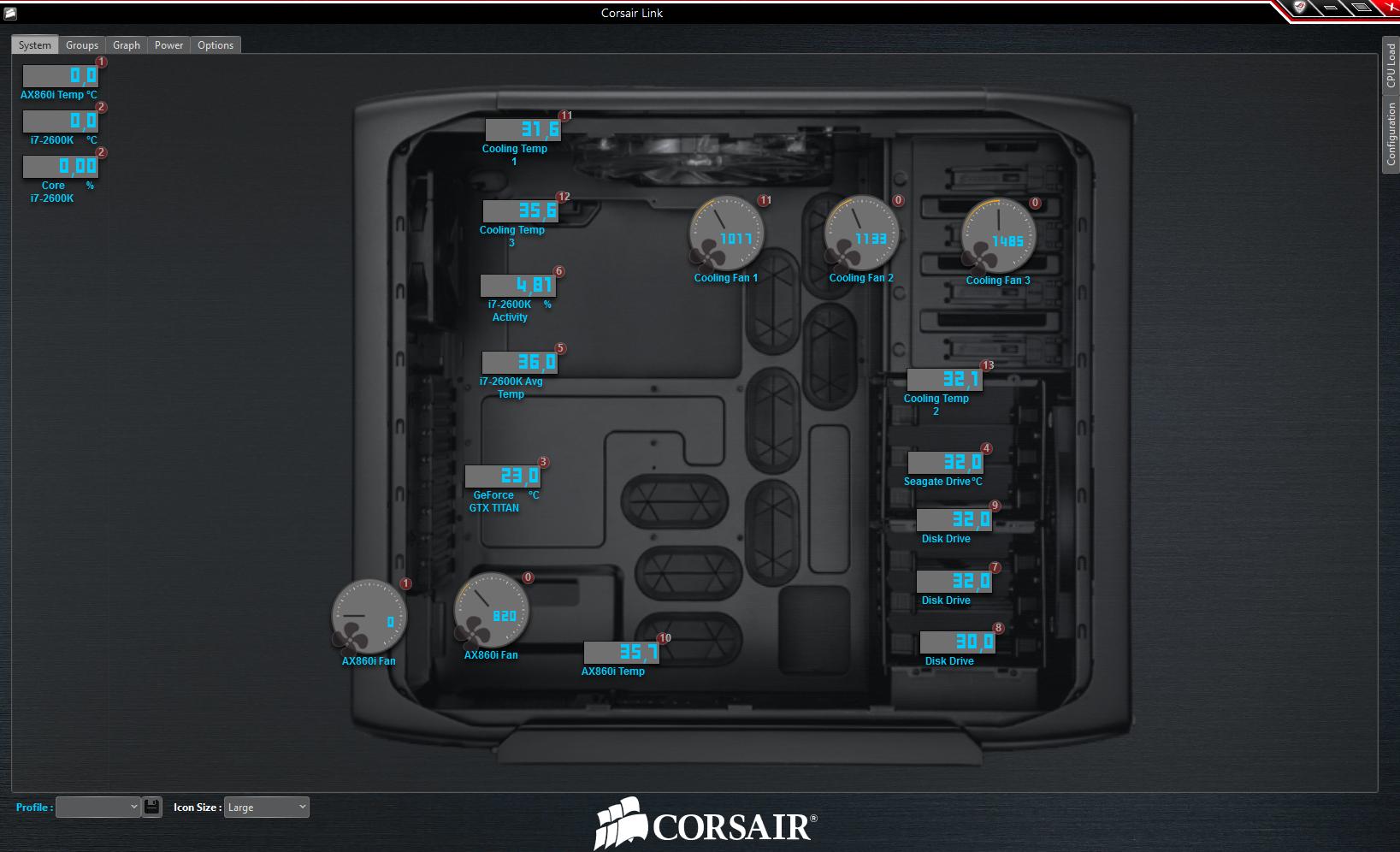 Corsair logiciel boitier